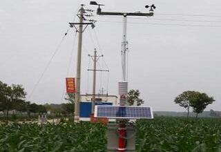 多功能自动气象站为农业增产提供依据